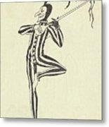 Illustration Of A Humorous Casanova Metal Print