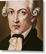Immanuel Kant, Philosopher, Born In Konigsberg, Germany Metal Print