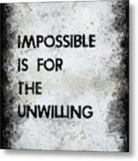 Impossible Metal Print