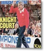 Indiana University Coach Bob Knight, 1987 Ncaa Midwest Sports Illustrated Cover Metal Print