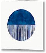 Indigo Moon- Art By Linda Woods Metal Print