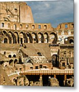 Interior Of The Colosseum, Rome, Italy Metal Print