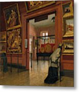 Interior View Of The Metropolitan Museum Of Art When In Fourteenth Street  Metal Print