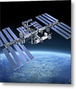 International Space Station Iss Metal Print