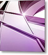 Intersecting Three-dimensional Lines In Metal Print