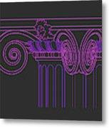 Ionic Capital Diagonal View Cropped 1 Metal Print