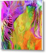 Iris Psychedelic  Metal Print