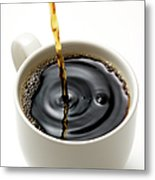 Isolated Shot Of Pouring A Fresh Coffee Metal Print