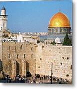 Israel, Jerusalem, Western Wall And The Metal Print