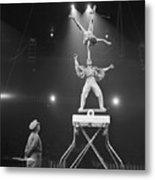 Italian Circus Performers Balancing Metal Print