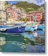 Italian Riviera Old Fashion Fishing Metal Print