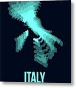 Italy Radiant Map 1 Metal Print
