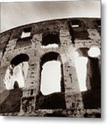Italy, Rome, The Colosseum, Low Angle Metal Print