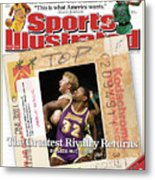 Its A Classic, Lakers Vs. Celtics The Greatest Rivalry Sports Illustrated Cover Metal Print