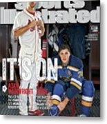Its On Adam Wainwright And T.j. Oshie Sports Illustrated Cover Metal Print