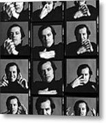 Jack Nicholson Contact Sheet Metal Print