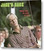 Jack Nicklaus, 1980 Us Open Sports Illustrated Cover Metal Print