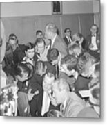 Jack Ruby With Lawyer Outside Court Metal Print