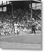 Jackie Robinson At Ebbets Field, 1956 Metal Print