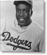 Jackie Robinson Happy Portrait 1949 Metal Print
