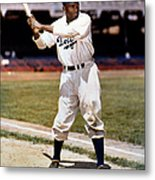 Jackie Robinson Of The Brooklyn Dodgers Metal Print
