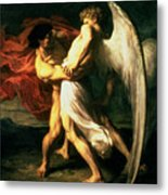 Jacob Wrestling With The Angel, 1865  Metal Print