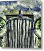 Jaguar Car Van Gogh Metal Print