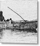Jamaican Fisherman in Ocho Rios Jamaica Metal Print