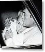 Janet Leigh And Tony Curtis Metal Print