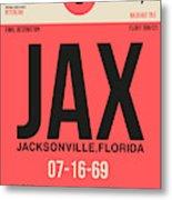 Jax Jacksonville Luggage Tag I Metal Print
