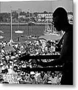 Jazz Musican At Newport Festival Metal Print