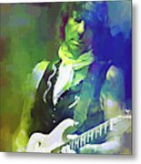 Jeff Beck, Love Is Green Metal Print