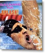 Jeff Float, 1984 Us Olympic Swimming Trials Sports Illustrated Cover Metal Print