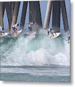 Jeremy Flores Surfing Composite Metal Print