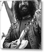 Jerry Garcia Performs Live Metal Print