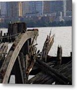 Jersey Broken Wharf IIi Metal Print