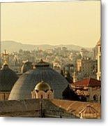 Jerusalem Churches On The Skyline Metal Print