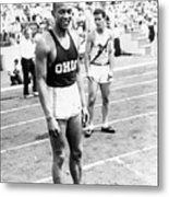 Jesse Owens At Olympic Tryouts Metal Print
