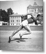 Jesse Owens Running A Sprint Metal Print