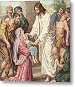 Jesus Healing The Sick Metal Print