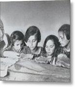 Jewish Teacher With Her Girl Students Metal Print
