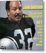Jim Brown, Retired Football Player Sports Illustrated Cover Metal Print