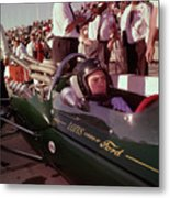 Jim Clark In His Ford Lotus Metal Print