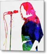 Joe Cocker Watercolor Metal Print