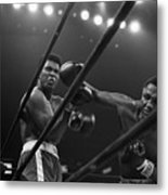 Joe Frazier Punches Muhammad Ali Metal Print