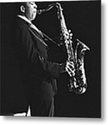 John Coltrane In Paris, France In 1963 - Metal Print