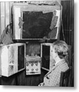 John L. Baird And His 1920s Tv Invention Metal Print