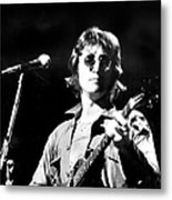 John Lennon. Performing At Th One To Metal Print