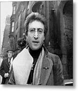John Lennon Returning From Florist Shop Metal Print