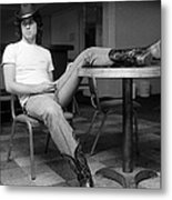 John Travolta, With His Hat And Boots Metal Print